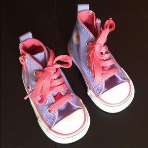 Converse Pink and Purple Hi Top Chucks